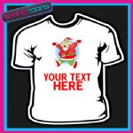 PERSONALISED SANTA CLAUS CHRISTMAS TSHIRT CHILDRENS MENS & LADIES SIZES